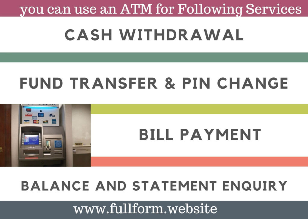 services available at ATM