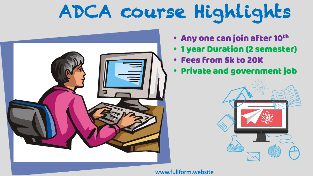 ADCA course full form