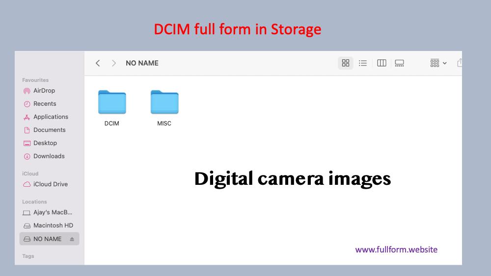DCIM full form in storage