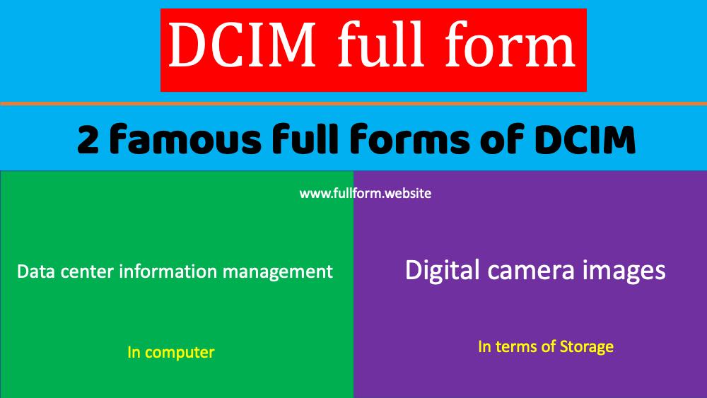 DCIM full form