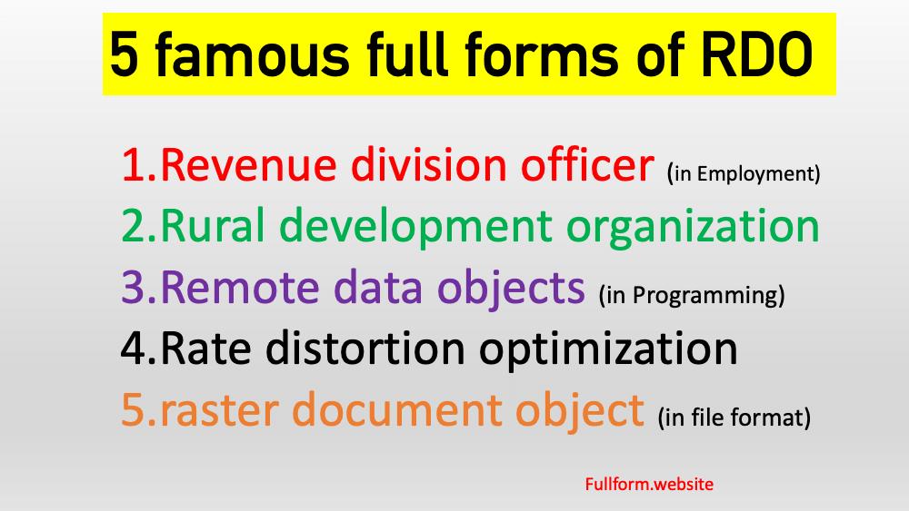RDO full form