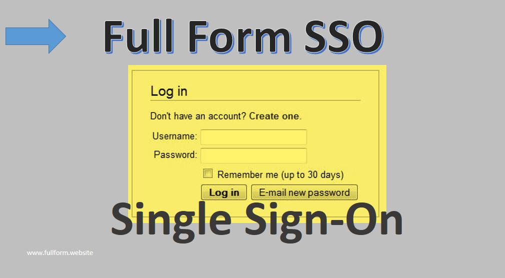 SSO Full Form